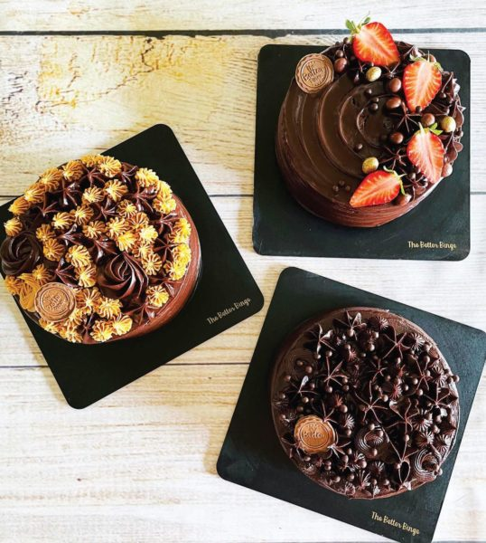 Her dark chocolate jowar cake with coconut sugar is one of the bestsellers. Much like her pancakes, brownies and pinatas