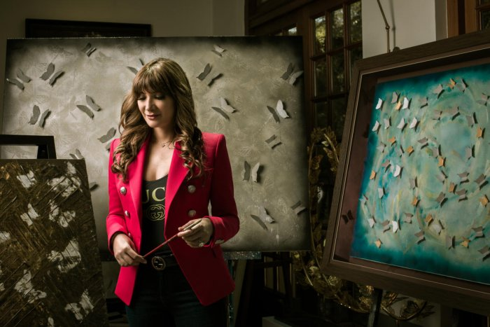 Artist Michelle Poonawalla's works are evocative of new technologies in art