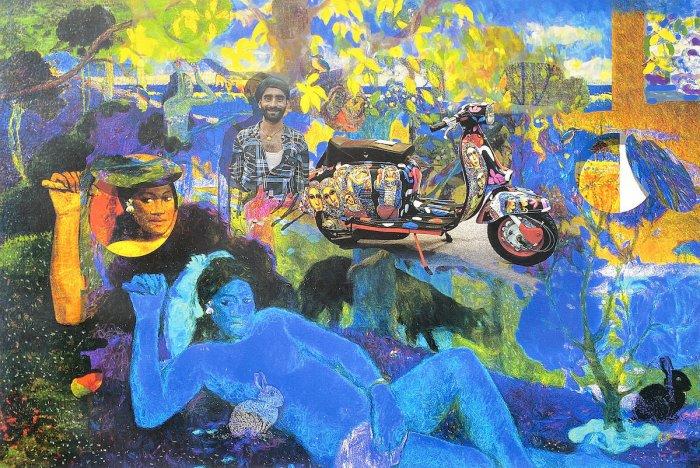 Women form the stars, the focal point in the immersive visual narratives of award-winning artist Santosh Jain