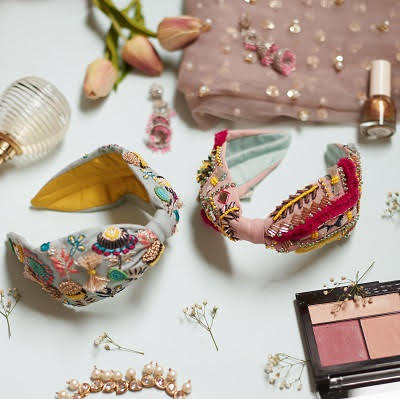 Slip on a snazzy jewelled hairband for that instant fashion boost. Get one for your vanity caddy!